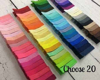 ON SALE 20 Simple Alligator Clips, You Choose From 85 Colors, Starter Set, Babies Toddler Girl Women