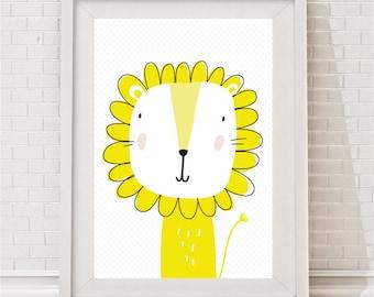 Mustard Yellow Lion Print - Max
