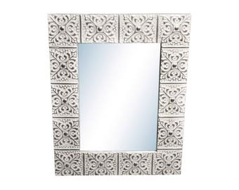 Large Snowflake 16 in. 22 in. Tin Mirror