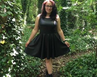 Matte Black PVC Dress