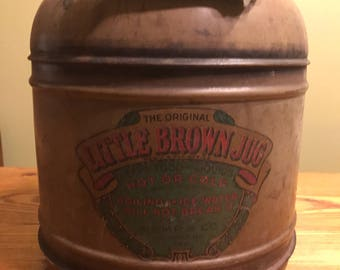 Vintage 1940's The Original Little Brown Jug Thermos Cooler St Louis MO