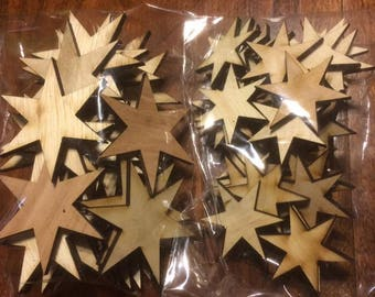 6 point Chicago Stars-laser cut- made in Chicago