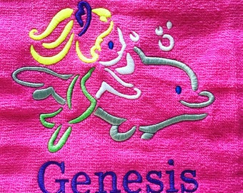 Custom order for 15 or one beach towels with free shipping, Swim Birthday Party Favors,