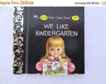 SALE 20% OFF We Like Kindergarten, Original Little Little Golden Book, 1990s Miniature Classics 24 Pages-New Old Stock Unused