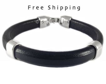 Men's bracelet - Custom men's bracelet - Gift for him - Genuine Spanish leather - Masculine bracelet for men - Husband boyfriend father gift