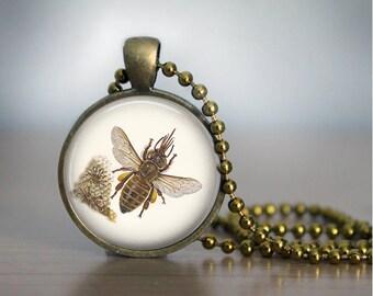 Honeybee Necklace Bee Necklace Bee Pendant
