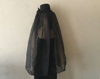 Hat, Halloween Black Mourning Hat,Black Hat with Black Veil,Handmade Black Mourning Hat,Black MOurning Veil,Costume Hat