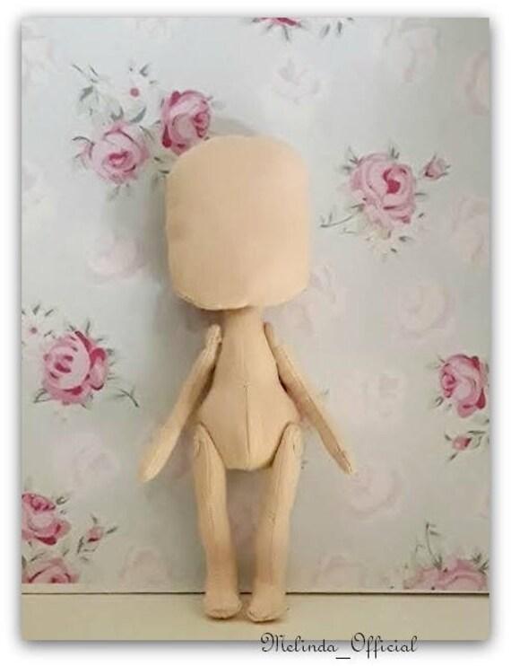 textile doll body,corpo bambola di stoffa , Melinda doll body