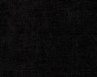 CVC Cotton Velour Black by the yard