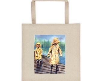 Kids in Rain Coats Bag