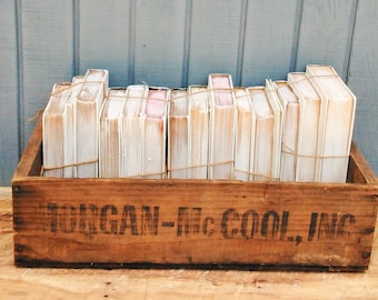 Vintage Food Crate - Wooden Crate - Morgan McCool Inc Crate - Antique Crate - Cherry Crate - Cherry Lug