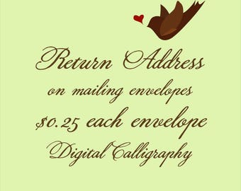 PRINT return address on mailing envelopes