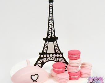 Love Of Paris Cake Topper Set