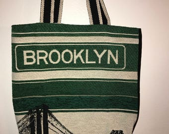 Brooklyn Bridge Tapestry Tote Bag 16'x 16""