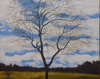 Original Acrylic Artwork: Reynolda Tree
