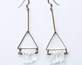 FREE SPIRIT EARRINGS- quartz
