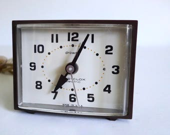 Vintage Westclox Electric Analog Alarm Clock Minikin Drowse - Made in USA - Floyd Jones Vintage