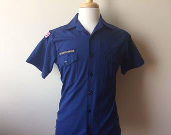 Vintage Boy Scout Adult Short Sleeve Shirt