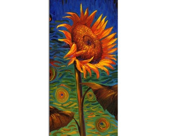 Sunflower limited edition print on canvas home interior Decor by Nizamas ready to hang