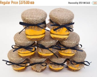 SALE 15% Off Ends Sunday Rustic 150 Wedding Favors in Burlap and Navy for a Shabby Chic, Vintage, or Rustic Elegant Wedding or Shower