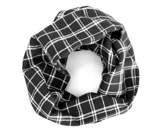 Toddler Scarf, Children Clothing, Kid Flannel Scarf, Unisex Scarf, Child Scarf, Black Scarf, Baby Bib Scarf, Under 20 Dollars, Ready To Ship