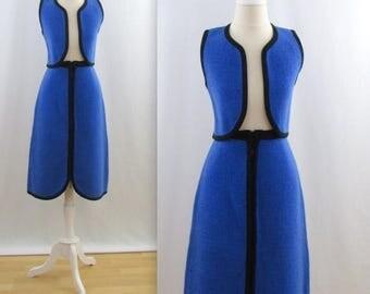 SALE Rare Carlo Gruber Knit Skirt + Vest Set - Vintage 1970s Skirt Suit