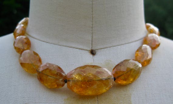 DAPHNE   Golden Citrine Chunky Necklace