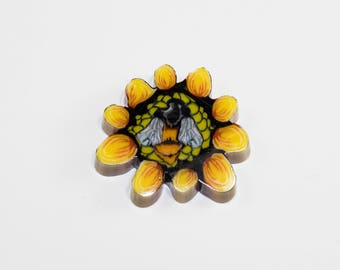 Sunflower Bee Collab Coin