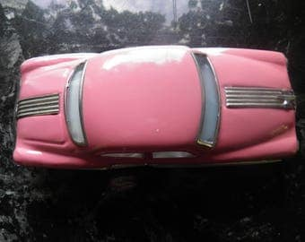 Vintage Hot Pink Metal  Car, Toy, Autom Movie Prop, Display