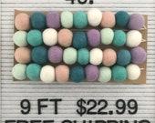 9 ft felt ball garland- reg 27,  sale 22.99- Free US shipping