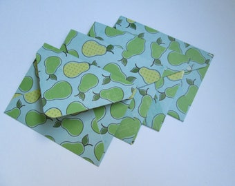 Mini Envelopes >> set of 4, Snail Mail, Penpals, Stationery, Envelopes