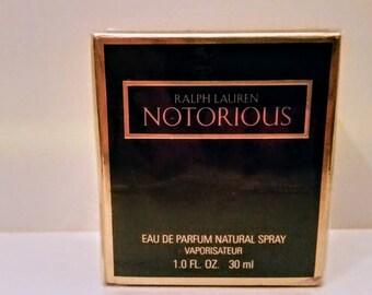 Rare Vintage Ralph Lauren NOTORIUS Eau de Parfum EDP 50 ml  Vintage tester