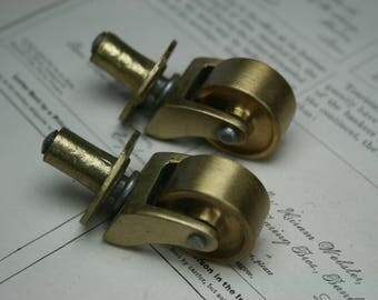 Caster Wheels - 2pc - Brass