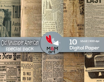 Paper Old Newspaper 10 Quality Paper Vintage Lists Backgrounds Rustic Antique Paper Decoupage Packaging 12x12 inches