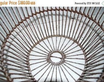 on sale Cape Cod shellfish gathering basket  vintage clam basket  metal basket