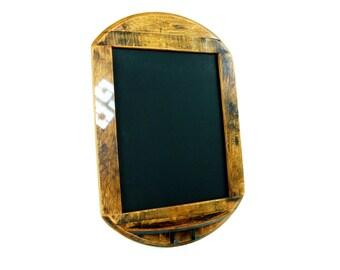 Bourbon Barrel Chalkboard - Black Board - Wedding Sign - Chalk Board Sign - Whiskey Barrel Chalkboard - Whiskey Decor - Wine Chalkboard