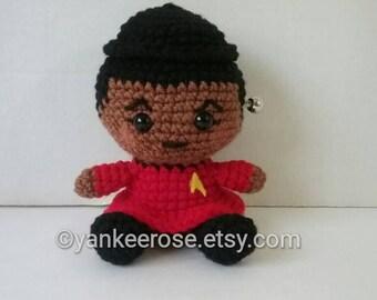 Star Trek Lt. Nyota Uhura Fathead Amigurumi Plush Doll for Trekkies!