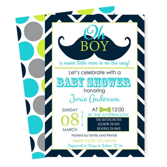 Mustache baby shower invitations for boys little man bow tie il570xn filmwisefo