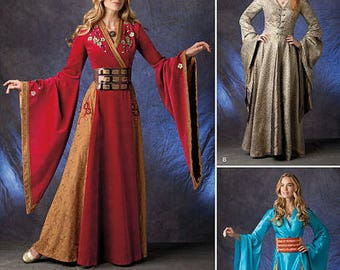 Renaissance Lady, Maiden Costume Pattern,Fantasy Medieval Renaissance Dress-- Simplicity 1009- Sewing Pattern Size 14-22