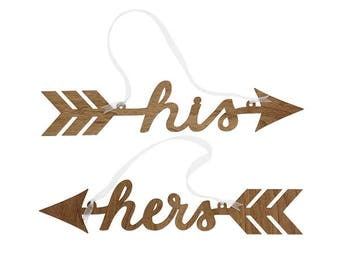 His and Hers Sightline Chair Signs