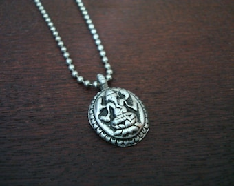 Men's Antique Ganesha Necklace // Good Luck, Protection, & Good Fortune Necklace // Mens Jewelry, Yoga , Buddhist Jewelry