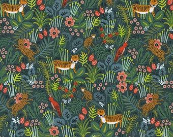 PRESALE - Menagerie - Jungle in Hunter - Anna Bond for Cotton + Steel - 8029-01 - 1/2 Yard