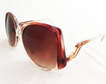 Sunglasses- Brown  Oversize vintage round 1980s taiwan frames