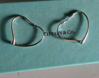 Authentic Tiffany and Company sterling Open Heart earrings