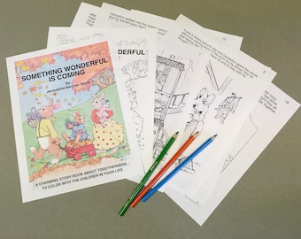 Color a story book for adults and children