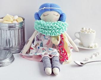 Motya: interior doll, cloth doll, handmade doll, fabric doll, soft doll, heirloom doll