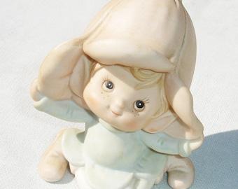 Vintage Pink Garden Pixie Figurine by HOMCO