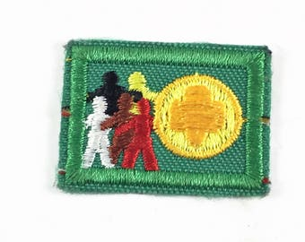 Small Green Sew On Unity Diversity Patch