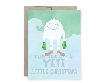Yeti Monster Christmas Card: Best Christmas Card ever