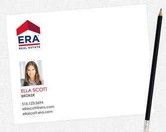 ERA real estate flat notecards - ERA personal stationery - thick, matte, full color both sides - free UPS ground shipping